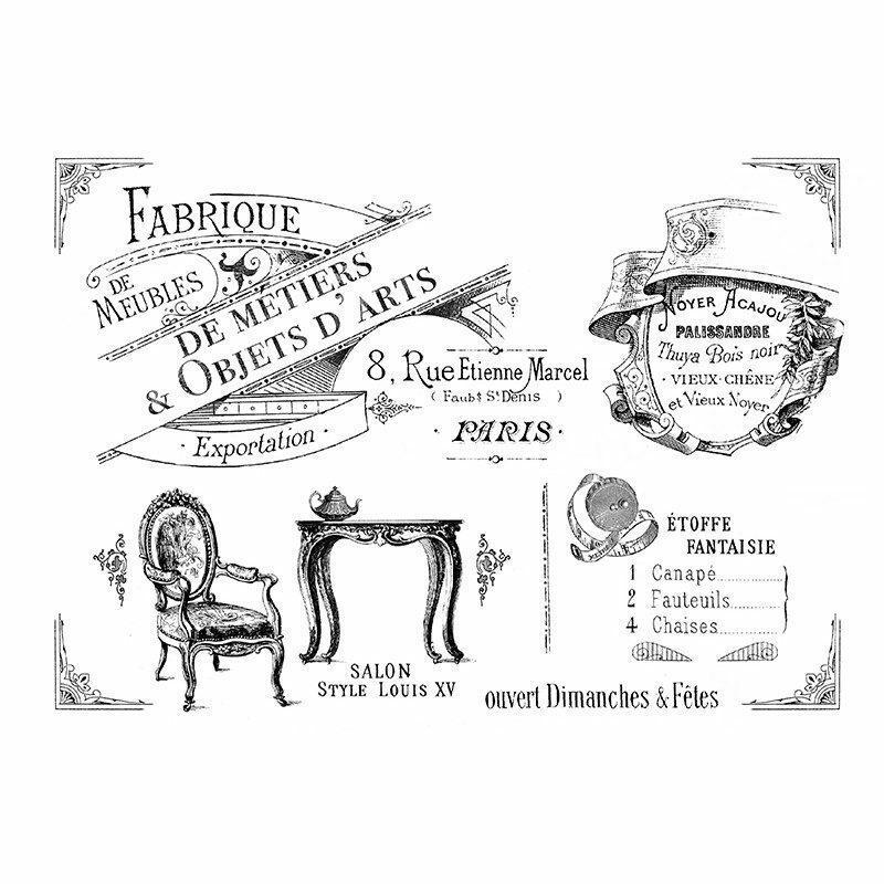 enseigne-vintage-meubles-de-métier-fauteuil-console